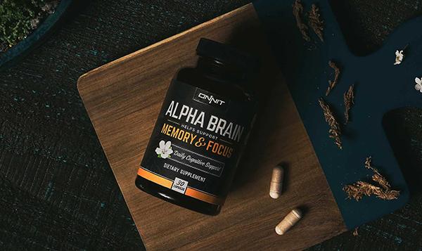 Alpha Brain with coffee