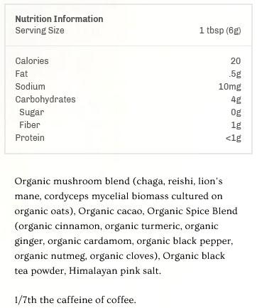 MUD WTR Ingredients