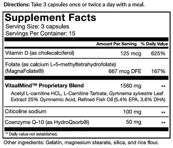 Vitaae ingredients