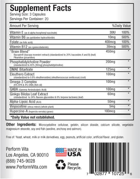 Neuroflexyn ingredients list